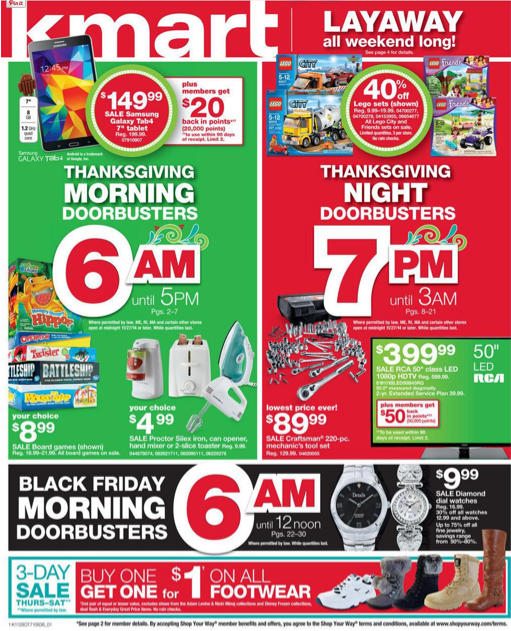 K-Mart Black Friday Ad