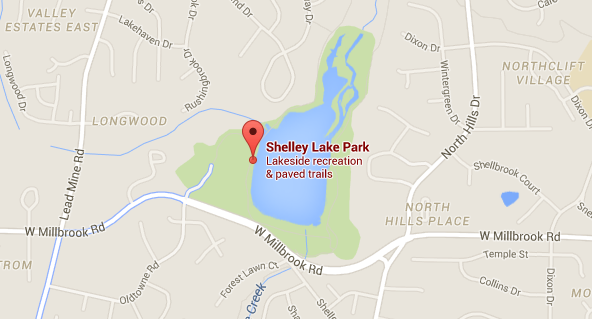 Google Map of Shelley Lake Park