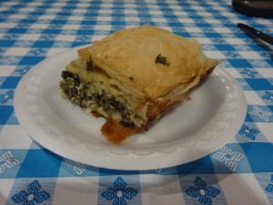 Spinach pie from the Greek festival (photo by Jaimie Newsome, 9/2014)