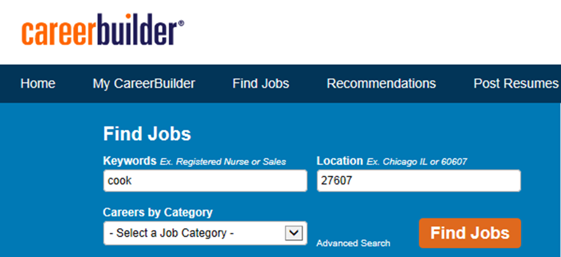 How to use career builder to find jobs job skills for Find a builder