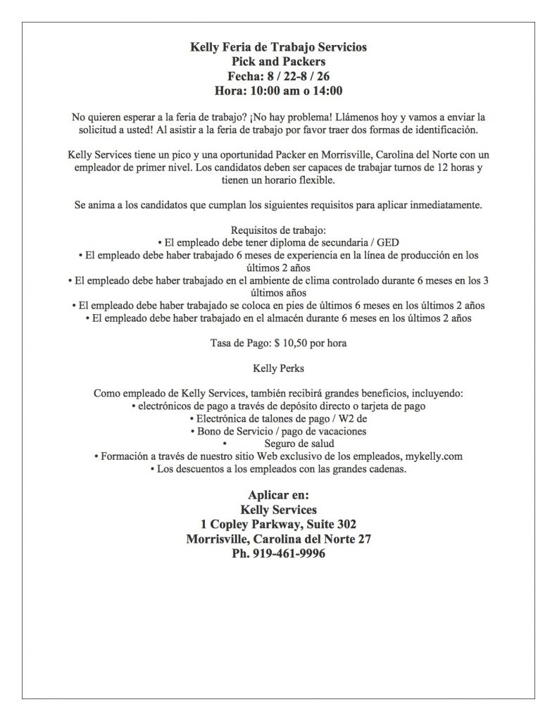 Spanish Job Fair Flyer