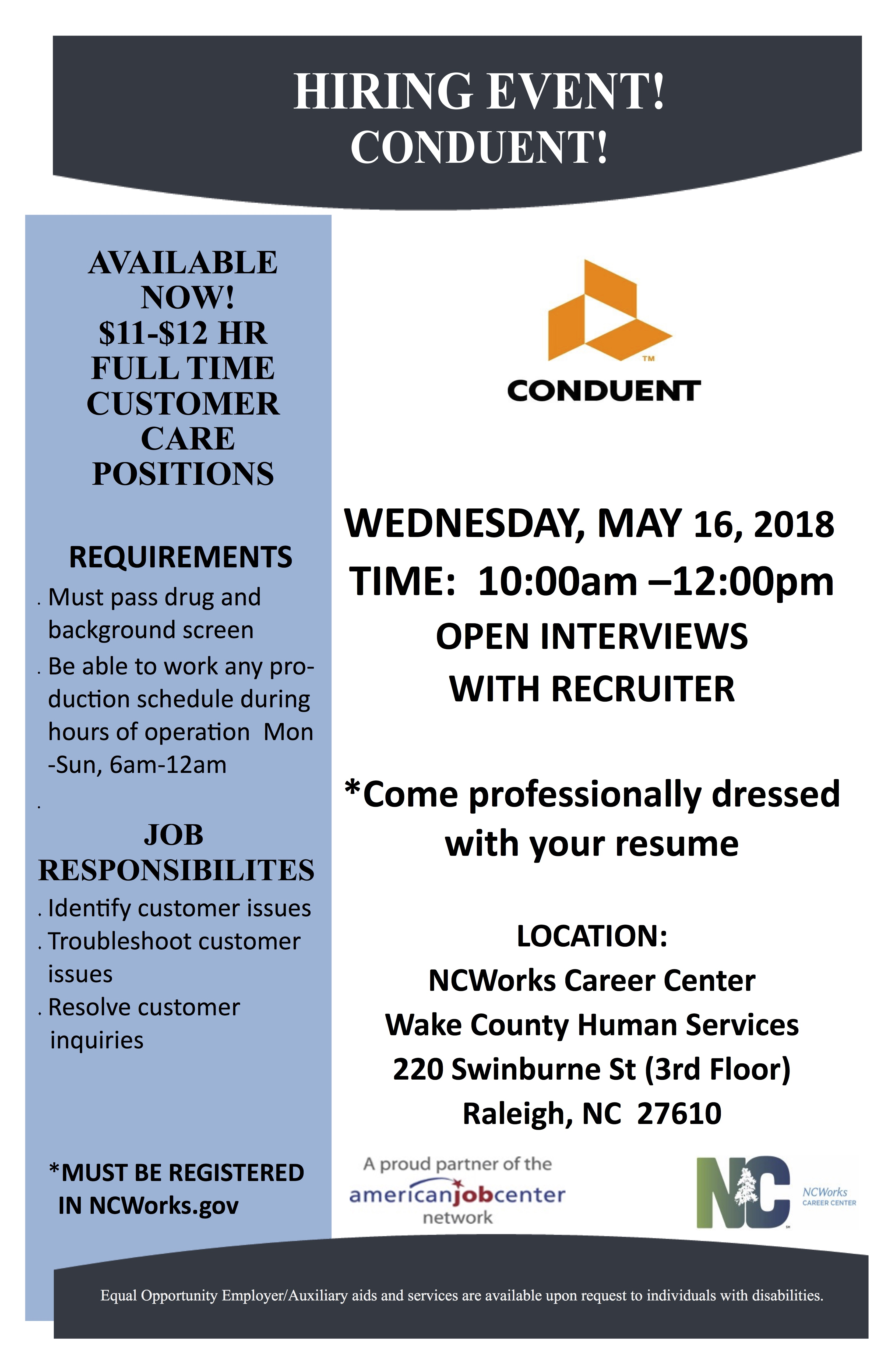 2018-May-16-Hiring-Event-WCHS-40-220-Swinburne-St2c-Raleigh Job Application Cover Letter Template Australia Pic Security Guard X Osxnmv on