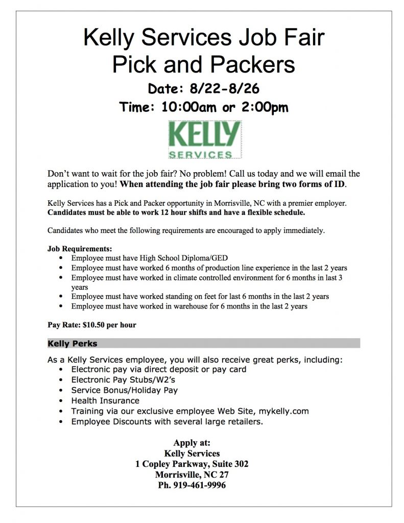 Job Fair at Kelly Services