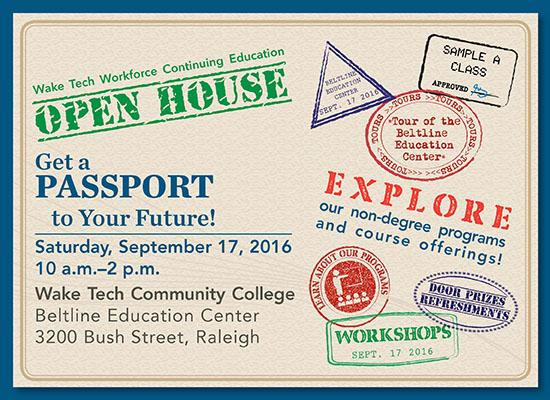 Workforce Open House at Wake Tech