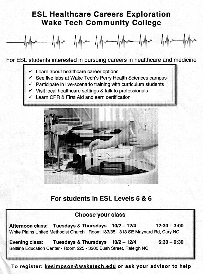 New Healthcare And Business Classes Starting Soon Esl Blogs Central