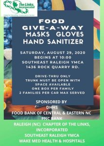 Food Give-a-Way,Masks, Gloves, Hand Sanitizer